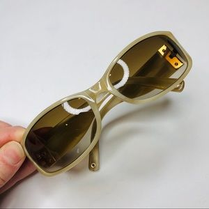 Coach Abigale Style Sunglasses Brown Marbled Frame